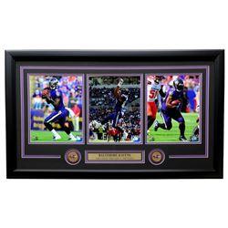 Lamar Jackson, Mark Andrews  Mark Ingram 2019 Baltimore Ravens 19x31 Custom Framed Photo Display