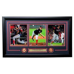 Anthony Rendon, Stephen Strasburg  Juan Soto 2019 Washington Nationals World Series 19x31 Custom Fra