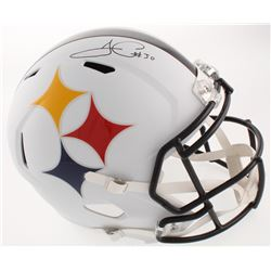 James Conner Signed Pittsburgh Steelers Full-Size AMP Alternate Speed Helmet (Fanatics Hologram)