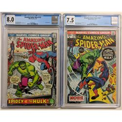 Lot of (2) CGC Graded Marvel Comic Books with 1973 The Amazing Spider-Man Issue #119 (CGC 8.0)  1973