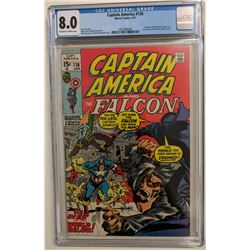 """1971 """"Captain America and the Falcon"""" Issue #136 Marvel Comic Book (CGC 8.0)"""