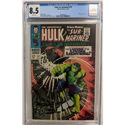 """1967 """"Tales to Astonish"""" Issue #97 Marvel Comic Book (CGC 8.5)"""