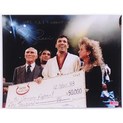 "Royce Gracie Signed UFC 11x14 Photo Inscribed ""UFC 1, 2  4 Champ"" (PA COA)"