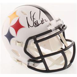 Mason Rudolph Signed Pittsburgh Steelers AMP Alternate Speed Mini Helmet (Schwartz COA)