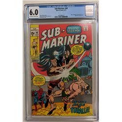 """1971 """"Sub-Mariner"""" Issue #40 Marvel Comic Book (CGC 6.0)"""