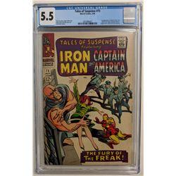 "1966 ""Tales of Suspense"" Issue #75 Marvel Comic Book (CGC 5.5)"