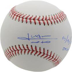 "Juan Soto Signed OML Baseball Inscribed ""5/15/18 Debut"" (Fanatics Hologram)"