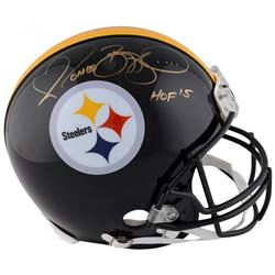 "Jerome Bettis Signed Pittsburgh Steelers Full-Size Authentic On-Field Helmet Inscribed ""HOF '15"" (Fa"