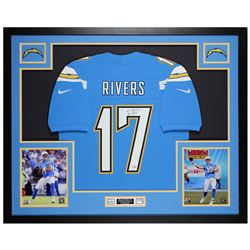 Philip Rivers Signed San Diego Chargers 35x43 Custom Framed Nike Jersey (Fanatics Hologram)