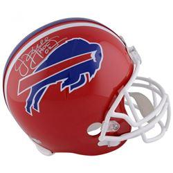"""Jim Kelly Signed Buffalo Bills Full-Size Helmet Inscribed """"HOF 02"""" (Fanatics Hologram)"""