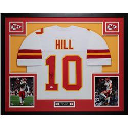 Tyreek Hill Signed 35x43 Custom Framed Jersey (JSA COA)