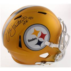 "Jack Lambert Signed Pittsburgh Steelers Full-Size Blaze Speed Helmet Inscribed ""HOF 90"" (JSA COA)"