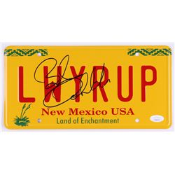 """Bob Odenkirk Signed """"Better Call Saul"""" New Mexico License Plate (JSA COA)"""