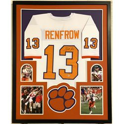 Hunter Renfrow Signed 34x42 Custom Framed Jersey (Beckett COA)