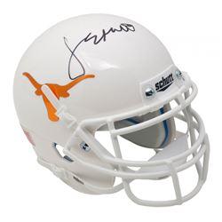 Jordan Spieth Signed Longhorns Mini Helmet (Beckett COA)