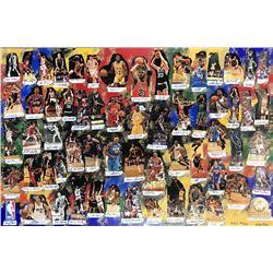 """NBA Legends"" 40x60 LE Cut Collage on Canvas Signed by (61) with Michael Jordan, LeBron James, Allen"