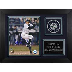 Ichiro Suzuki Signed Seattle Mariners 14x18.5 Custom Framed Photo Display (Suzuki COA)