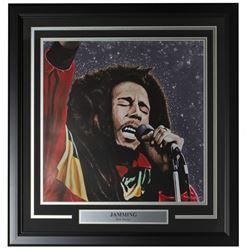 "Bob Marley LE ""Jamming"" 22x23 Custom Framed Print Display"