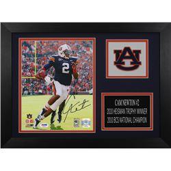 Cam Newton Signed Auburn Tigers 14x18.5 Custom Framed Photo Display (PSA COA  Newton Hologram)