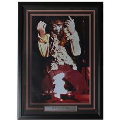 "Jimi Hendrix LE ""Burning Desire"" 22x30 Custom Framed Print Display"