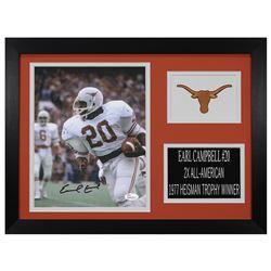 Earl Campbell Signed Texas Longhorns 14x18.5 Custom Framed Photo Display (JSA COA)