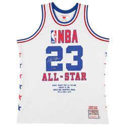 Michael Jordan Signed LE 1985 NBA All Star Game Highlight Stat Jersey (UDA COA)