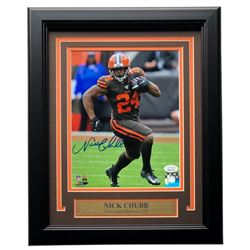 Nick Chubb Signed Cleveland Browns 11x14 Custom Framed Photo Display