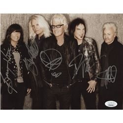 REO Speedwagon 8x10 Photo Signed by (5) with Bruce Hall, Kevin Cronin, Bryan Hitt, Neal Doughty (JSA