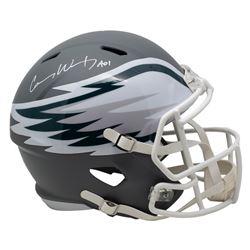 "Carson Wentz Signed Philadelphia Eagles Full-Size AMP Alternate Speed Helmet Inscribed ""A01"" (Fanati"