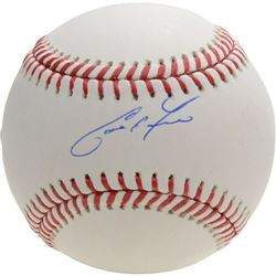 Christian Yelich Signed OML Baseball (MLB Hologram  Fanatics Hologram)