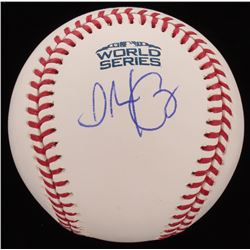 Alex Cora Signed 2017 World Series Logo Baseball (JSA COA)