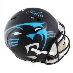 Christian McCaffrey Signed Carolina Panthers Full-Size Authentic On-Field Speed AMP Helmet (Radtke C