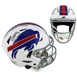 """Jim Kelly Signed Buffalo Bills Full-Size Authentic On-Field SpeedFlex Helmet Inscribed """"Lets Break S"""