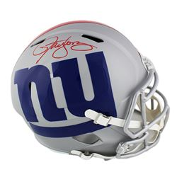 Lawrence Taylor Signed New York Giants Full-Size Speed AMP Helmet (Radtke COA)
