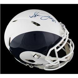 Steven Jackson Signed St. Louis Rams Full-Size Authentic On-Field Speed AMP Helmet (Radtke COA)