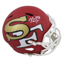 Nick Bosa Signed San Francisco 49ers Full-Size AMP Alternate Speed Helmet (Beckett COA)