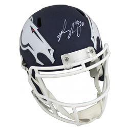 Phillip Lindsay Signed Denver Broncos Full-Size AMP Alternate Speed Helmet (JSA COA)