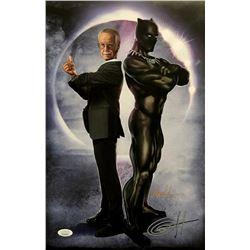 "Greg Horn Signed ""Black Panther  Stan The Man"" 11x17 Lithograph (JSA COA)"