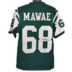 "Kevin Mawae Signed Jersey Inscribed ""HOF 2019"" (Beckett COA)"