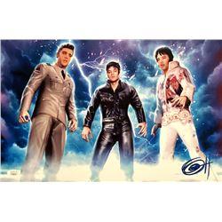 "Greg Horn Signed ""Elvis Trinity"" 11x17 Lithograph (JSA COA)"