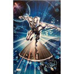 "Greg Horn Signed ""Silver Surfer - Head On"" 11x17 Lithograph (JSA COA)"