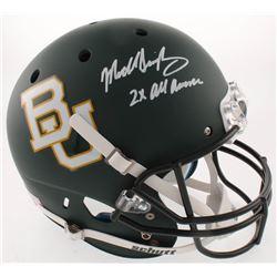 "Mike Singletary Signed Baylor Bears Full-Size Helmet Inscribed ""2X All American"" (Radtke COA)"