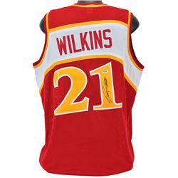Dominique Wilkins Signed Jersey (PSA COA)