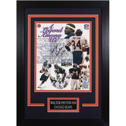 Walter Payton Signed Chicago Bears 14x18.5 Custom Framed Photo (PSA LOA)
