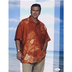 "Bruce Campbell Signed ""Burn Notice"" 11x14 Photo (JSA COA)"