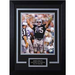 Howie Long Signed Los Angeles Raiders 14x18.5 Custom Framed Photo (JSA COA)
