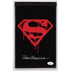 "Brett Breeding Signed 1992 ""Superman"" Issue #75 DC Comic Book Black Bag Collector's Set (JSA COA)"