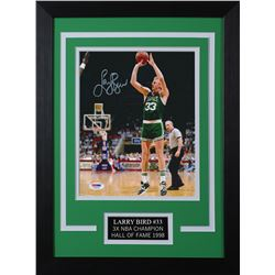 Larry Bird Signed Boston Celtics 14x18.5 Custom Framed Photo (PSA COA)