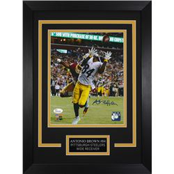 Antonio Brown Signed Pittsburgh Steelers 14x18.5 Custom Framed Photo (JSA COA)