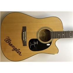 George Strait Signed Wrangler Coply Full-Size Acoustic Guitar (JSA LOA)